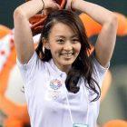 【画像】体操 田中理恵 始球式で見えた?